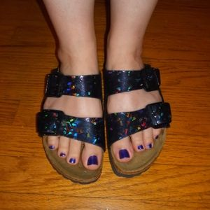 Birckenstock black holographic size 38 sandal